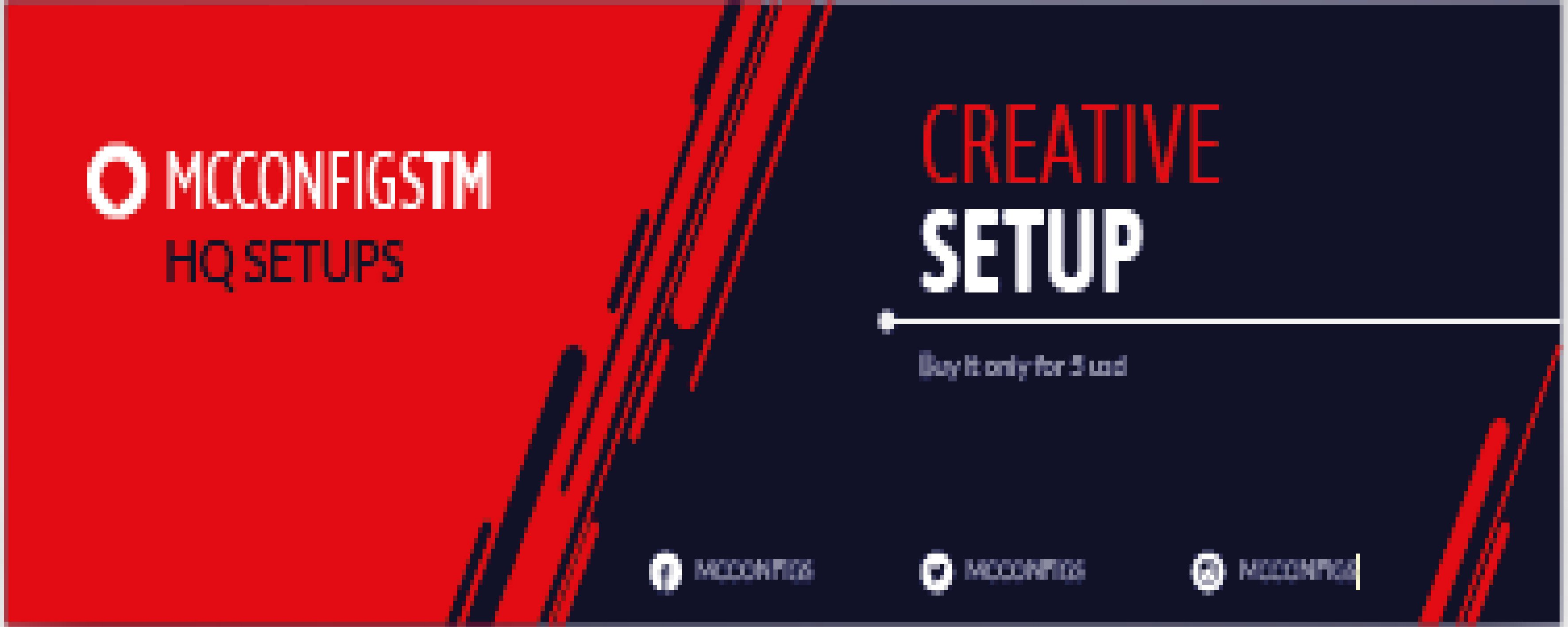 ☀ Creative Setup (5 USD) ☀ | MC-Market