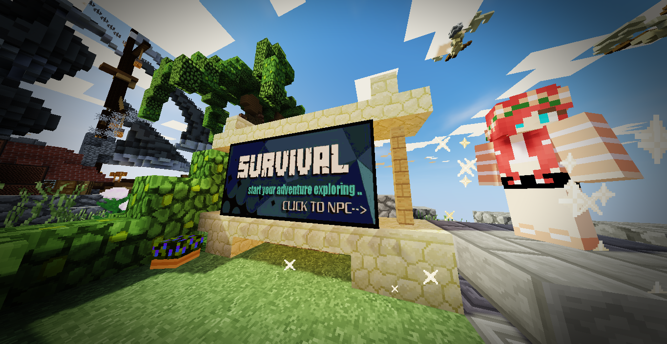 ✯ SURVIVAL SERVER ✯ || ➜ VERSIONS: 1 8 - 1 13 2