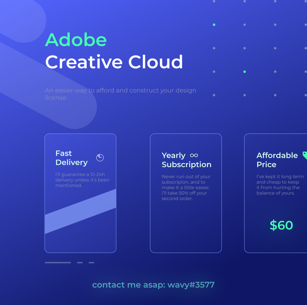 Offering - ⭐[NEW] ADOBE CREATIVE CLOUD SUBSCRIPTIONS⭐ | MC-Market