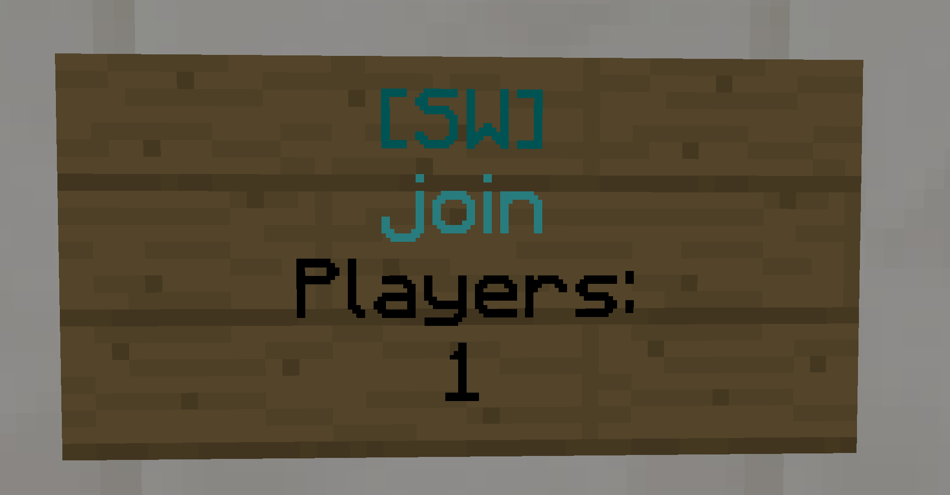 Join a skywars game using signs