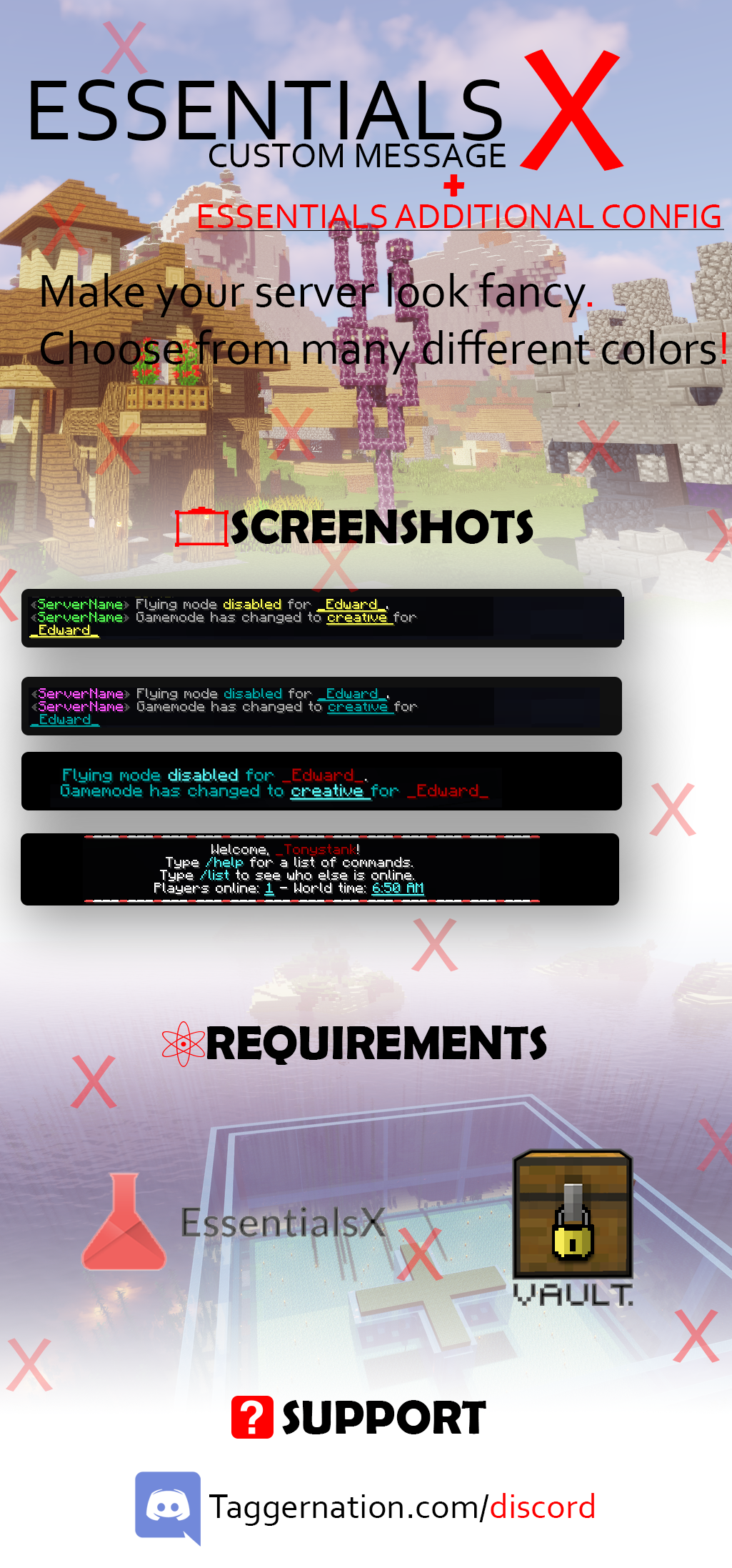✦—• Essentials✘ Clean message ϟ Join Message and MOTDs config